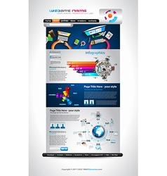 Flat Style Website Template - Elegant Design for vector image