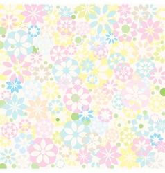 Floral fantasy background vector image