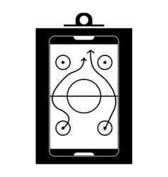 Game plan icon simple style vector