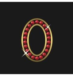 Golden zero symbol vector