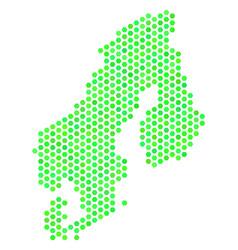 Green hex tile scandinavia map vector
