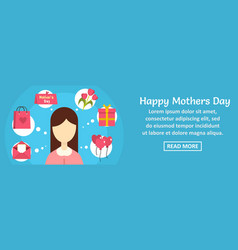 happy mothers day banner horizontal concept vector image