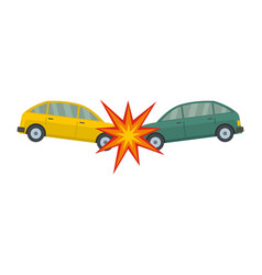Head collision icon flat style vector