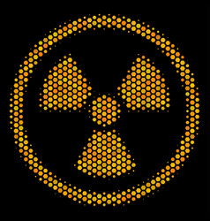 Hexagon halftone radioactive icon vector