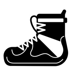 hiking boot icon simple style vector image