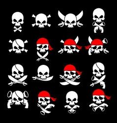 Jolly Roger Pirate flag Skull and crossbones vector