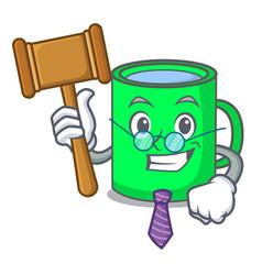 Judge mug mascot cartoon style vector
