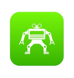 machine icon digital green vector image