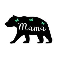 mama bear vector image