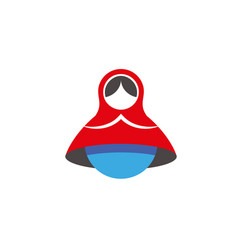 matryoshka minimalistic icon vector image
