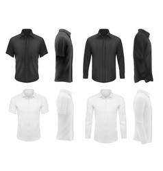 Men clothes tshirts shirts apparel mockup vector