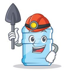 Miner gallon character cartoon style vector