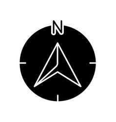 Navigator arrow black glyph icon vector