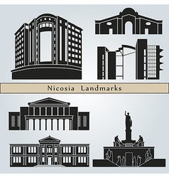 Nicosia landmarks and monuments vector