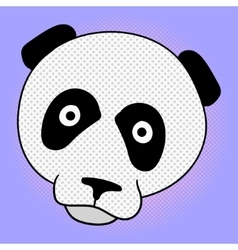 Panda pop art vector image