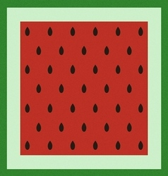 Pattern with watermelon surface vector image