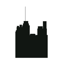 Pictogram buildig city high architecture vector