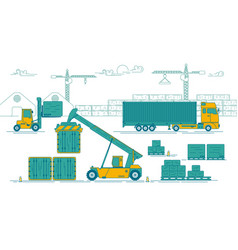 port activity vector image