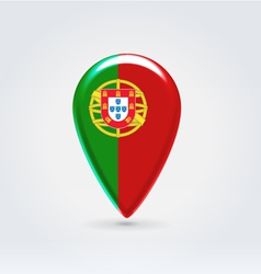 Portugalian icon point for map vector image