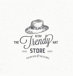 retro hat store abstract sign symbol or vector image