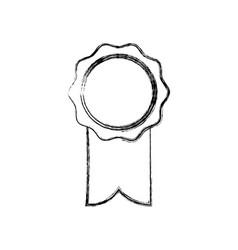Rosette ribbon award winner symbol vector
