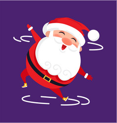 Santa modern dancer cute cartoon character isolate vector