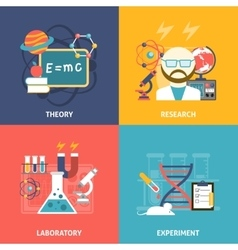 Science decorative icon set vector