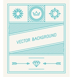 Simple and geometric graphic design template vector