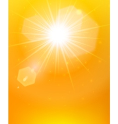 Sunshine background orange poster vector