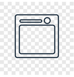 Table concept linear icon isolated on transparent vector
