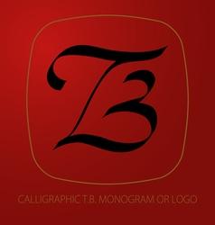 TB logo monogram vector