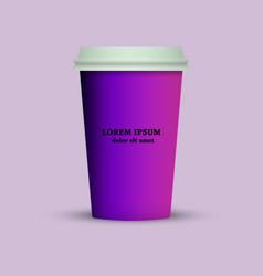 thermal mug coffee cup vector image