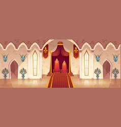 throne room in medieval palace castle hall vector image