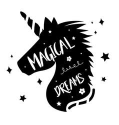 Unicorns horse cute dream fantasy cartoon vector