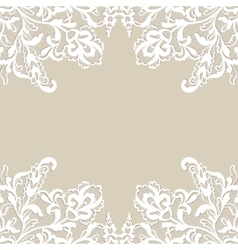 White flower frame vector