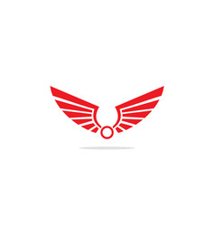 wing emblem logo vector image