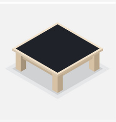 Wooden coffee table - isometric vector