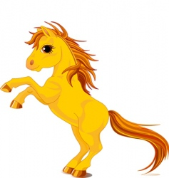 yellow horse vector image