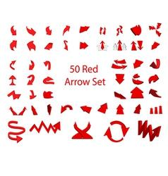 Arrow set 50 vector image vector image