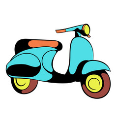 motorcycle blue icon cartoon vector image
