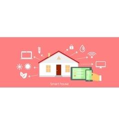 Smart House Concept Icon Flat Design vector image