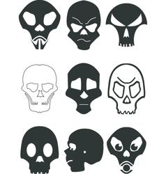 stylized skull vector image