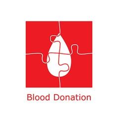 blood donation logo puzzle vector image