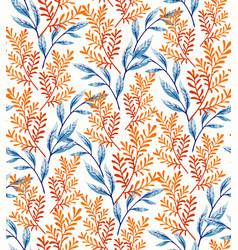 summer leaves pattern vector image