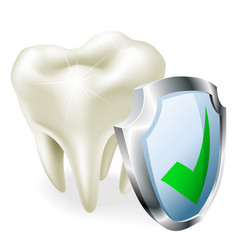 tooth protection concept vector image