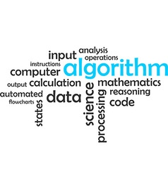 word cloud algorithm vector image