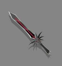 A dark sword in a fantasy style vector