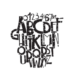 Decorative grunge font in bold letters vector image vector image