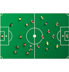 Football Top View Playground with Players Soccer vector image vector image