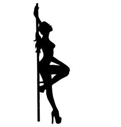 girlstripteasepooldance go-go dance vector image